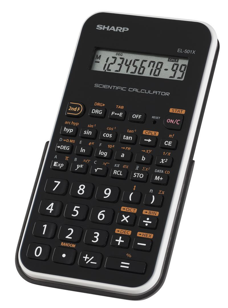 Sharp EL-501XB-WH Scientific Calculator - White Trim