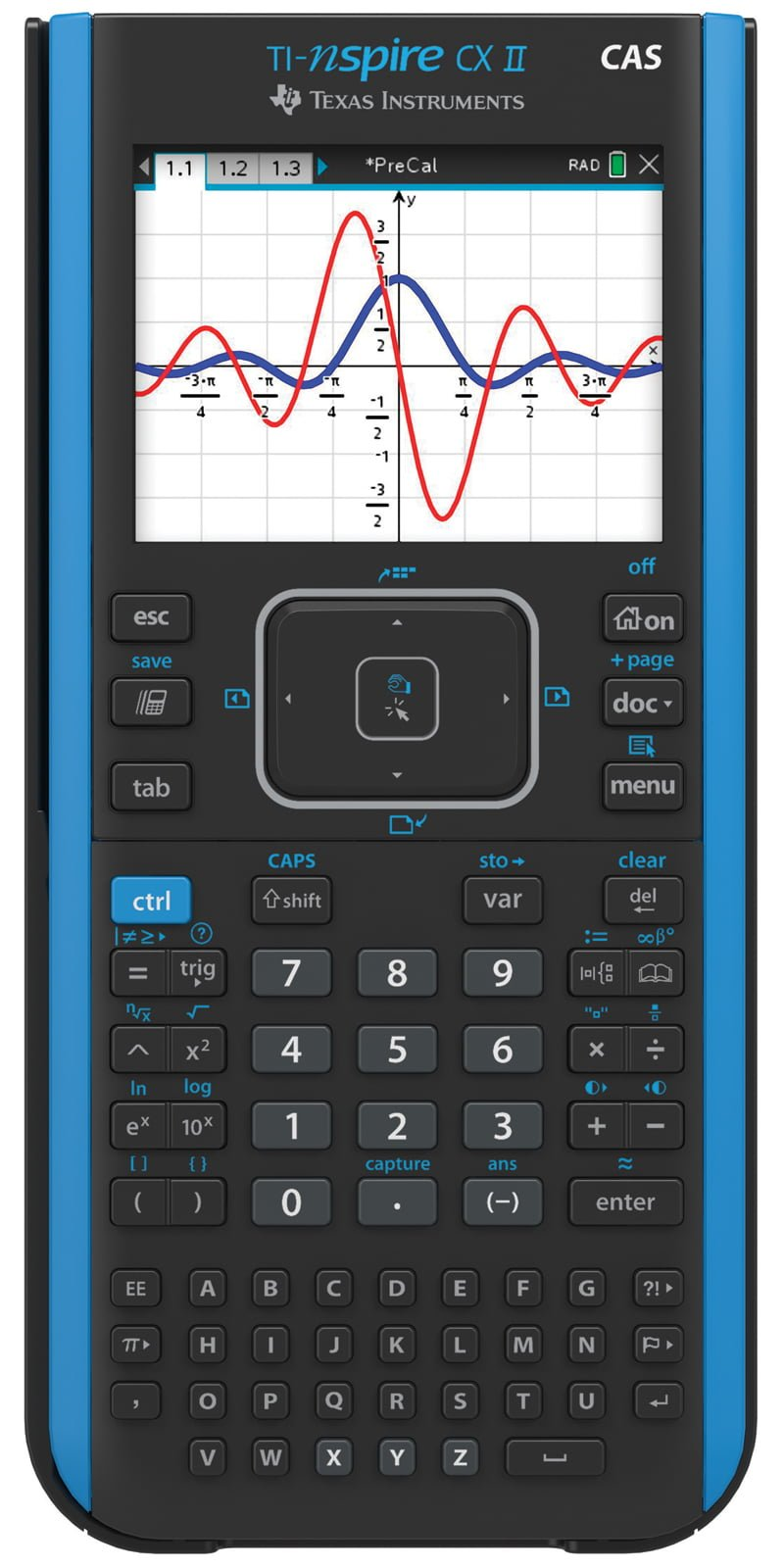 Texas Instruments TI-Nspire CX II CAS Handheld Graphing Calculator