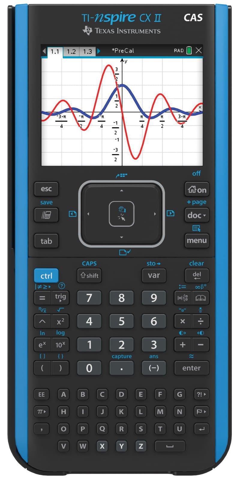 Texas Instruments TI-Nspire CX II CAS Handheld Graphing Calculator