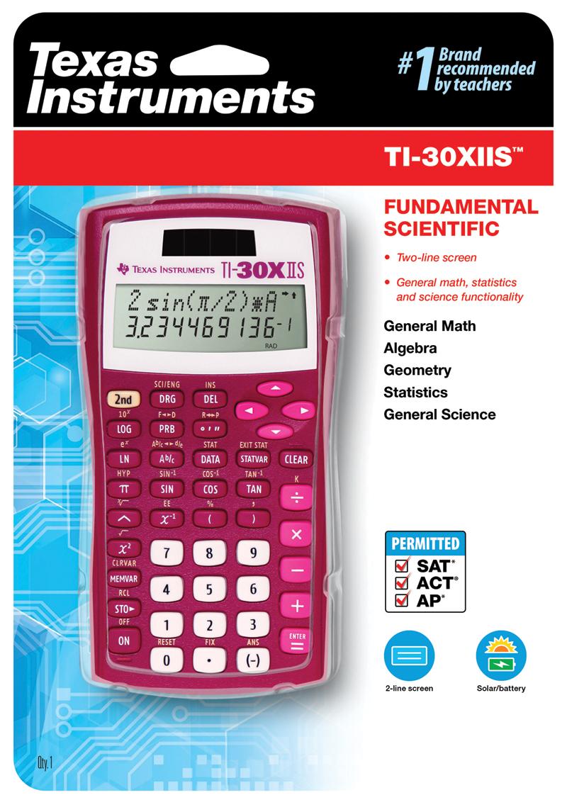Texas Instruments TI-30X IIS Scientific Calculator 10-Digit LCD 4 Math Algebra